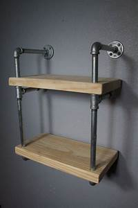 Pipe, Shelving, Industrial, Furniture, Wall, Mounted, Shelving, Industrial, Shelf, Shelving, Unit
