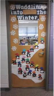 school classroom door decorations your students waddling into winter with this