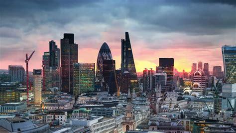 london sunset city  london stock footage video