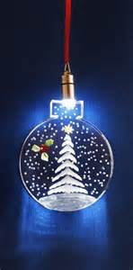 lighted ornament white christmas tree