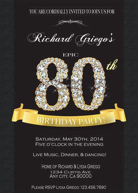 80TH BIRTHDAY INVITATION 80th birthday invitations