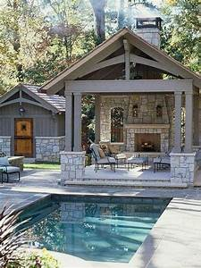 backyard design outdoor kitchen pool house small inground With backyard designs with pool and outdoor kitchen