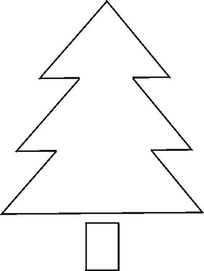 7 best images of large printable christmas tree patterns