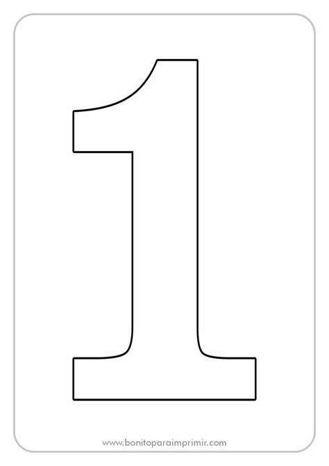 Número 1 para imprimir📒 【PDF colorear y recortar】
