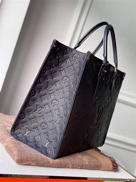 louis vuitton onthego gm black monogram empreinte leather  hooogoods
