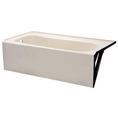 american standard cambridge  ft    left drain soaking bathtub  linen