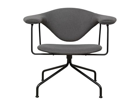 buy the gubi masculo lounge chair swivel base at nest co uk