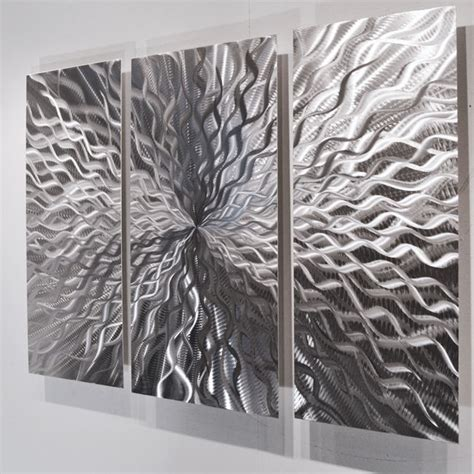 modern abstract metal wall sculpture contemporary painting home decor silver ebay