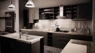 modular kitchen furniture 15 bold and black kitchen designs home design lover