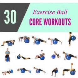 Exercise Ball Core Exercises