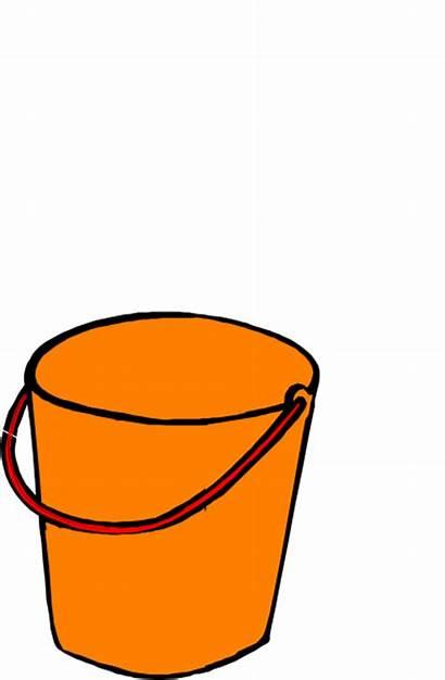 Bucket Orange Clip Clipart Clker Cliparts