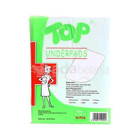 adabelanja top underpads 60x90cm isi 10 kecantikan kesehatan pribadi shopping start