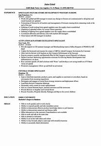Store Specialist Resume Samples