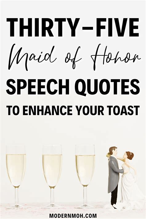 35 Maid of Honor Speech Quotes to Enhance Your Toast ...