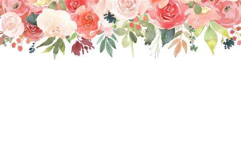 floral frames watercolour clip art burnt umber pink