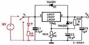 Power Supply  Off Indicator Led To Circuit