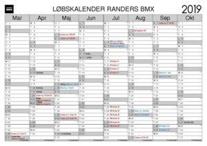 bmx kalender kalender