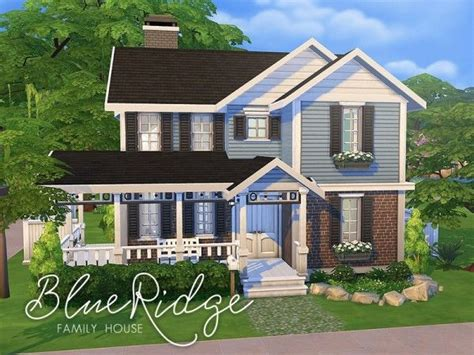 of sims 4 house building small modernity the sims resource blue ridge family house by smubuh Best