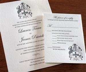 including classic elements like your family crest in your With wedding invitation for relatives