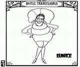 Wife Frankenstein Eunice Coloring sketch template