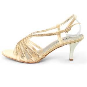 womens rhinestone mid heel sandals silver gold wedding With gold dress sandals for wedding