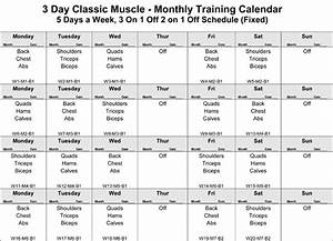 3-day Classic Muscle Bodybuilding Workout