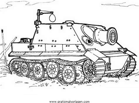 hummel panzer  gratis malvorlage  panzer