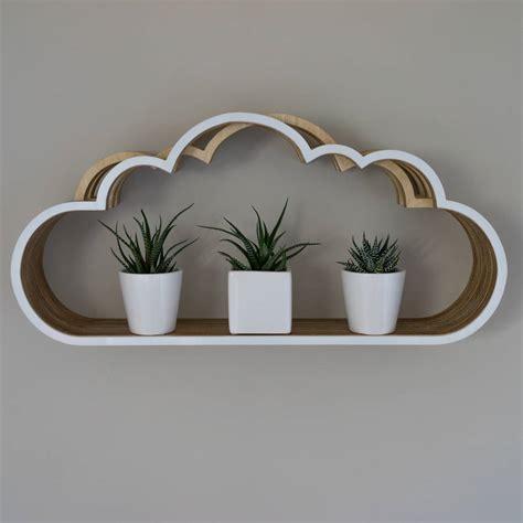 wooden cloud shelf  youbadcat notonthehighstreetcom