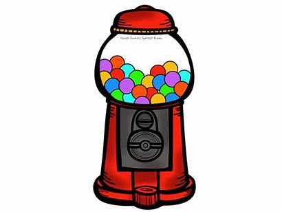 Gum Bubble Clip Machine Clipart Gumball Chewing