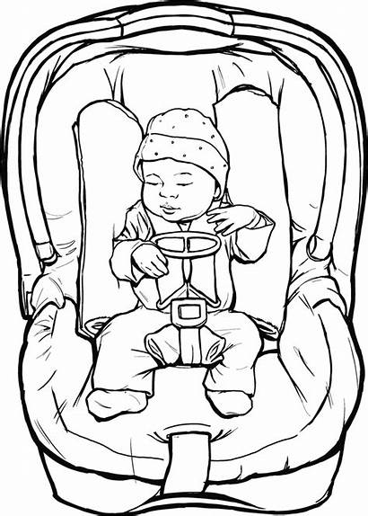 Seat Weight Newborn Birth Drawings Clipart Low