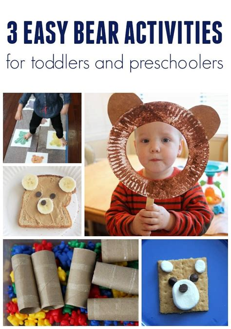 easy bear themed activities  toddlers