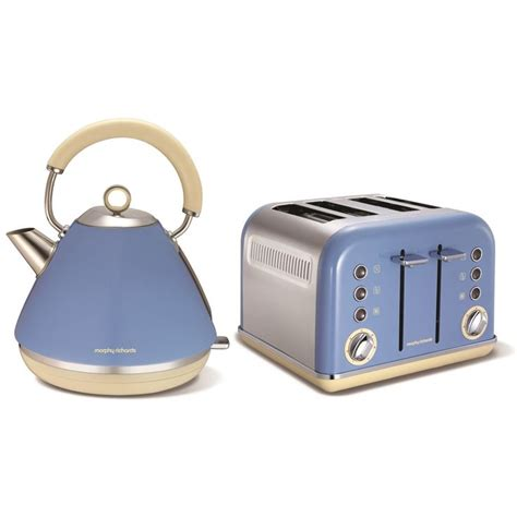 morphy richards kettle and toaster set morphy richards accents blue stainless steel kettle jug