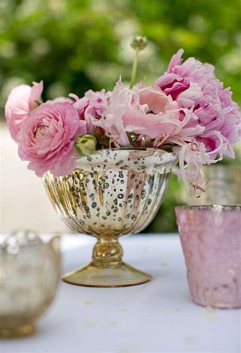 rose gold mercury glass raised bowl vase mercury