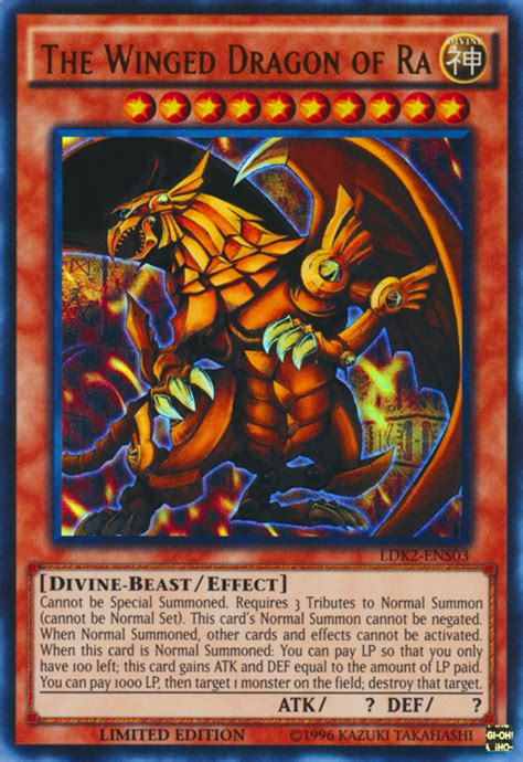 yugioh god cards ra dragon winged qtoptens