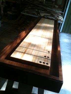 custom  ft shuffleboard table  jeremy belanger