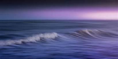 Ocean Purple Nature Wallpapers 4k Background Waves