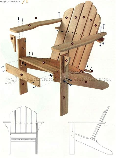 adirondack chair plans how to build outdoor wood chairs diy woodworking plans