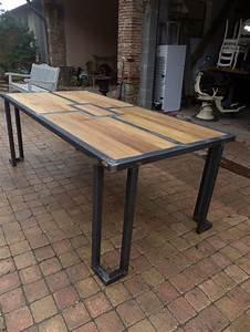 Table Metal Exterieur : brocantetendance fabrication sur mesure mobilier ~ Teatrodelosmanantiales.com Idées de Décoration