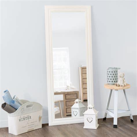 miroire chambre miroir napoli blanc 145x59 maisons du monde