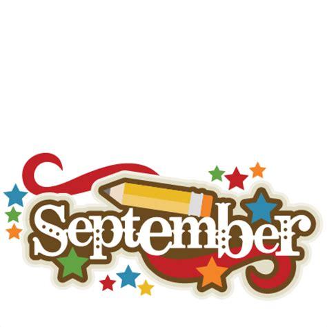 September Images September Title Svg Scrapbook Cut File Clipart Files