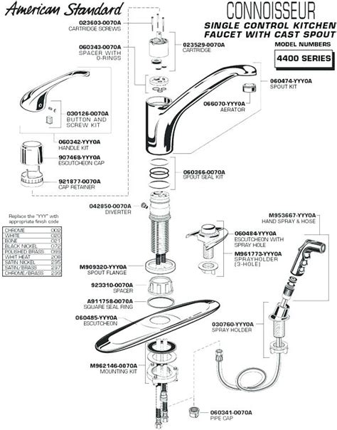 Kitchen Faucet Repair Parts by Moen Kitchen Faucet 7400 Repair Besto