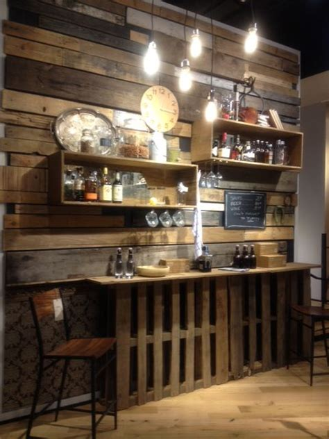pallet bar wall accessories my style home decor
