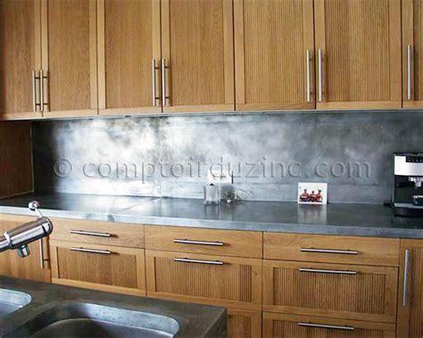 cuisine en zinc plan de travail crédence en zinc cuisines cuisine sdb le comptoir du zinc