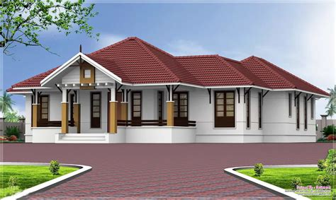 single houses single floor house designs kerala house planner