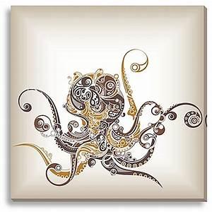 octopus canvas wall art bed bath beyond With octopus wall art