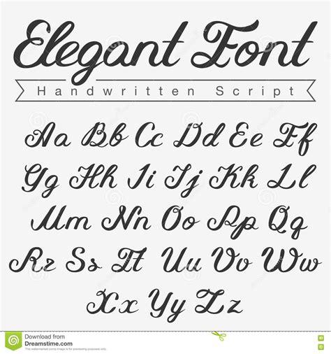 elegant handwritten calligraphy script font design stock