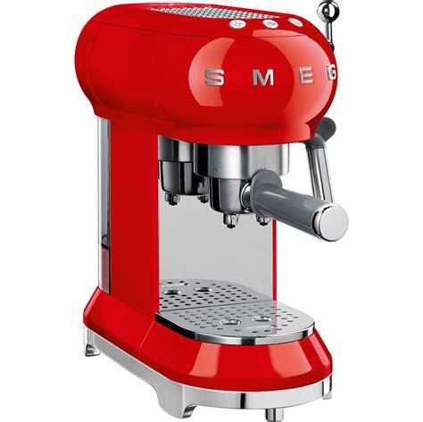 The espresso machine makes fantastic traditional italian coffees. SMEG ECF01 Retro Style Espresso Machine | Quench Essentials