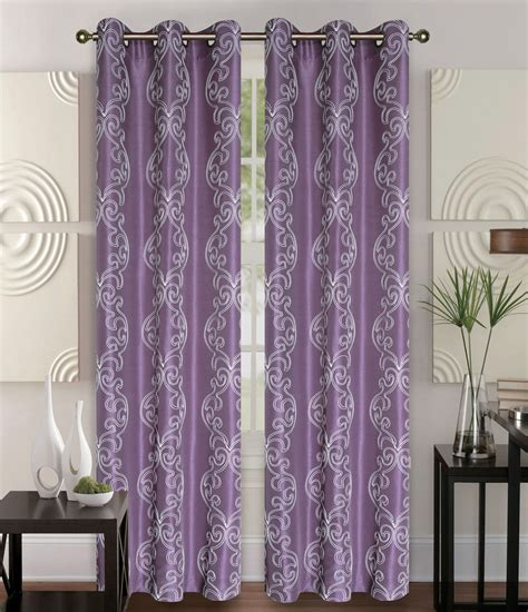 Pair Of Owen Plum Faux Silk Window Curtain Panels Wgrommets