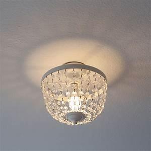 Lampe Mit Kristallen : deckenlampe chateau wei shabby chic deckenleuchte mit kristallen ~ Orissabook.com Haus und Dekorationen