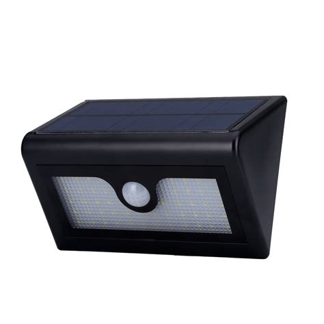 outdoor led solar powered security light 480 lumen